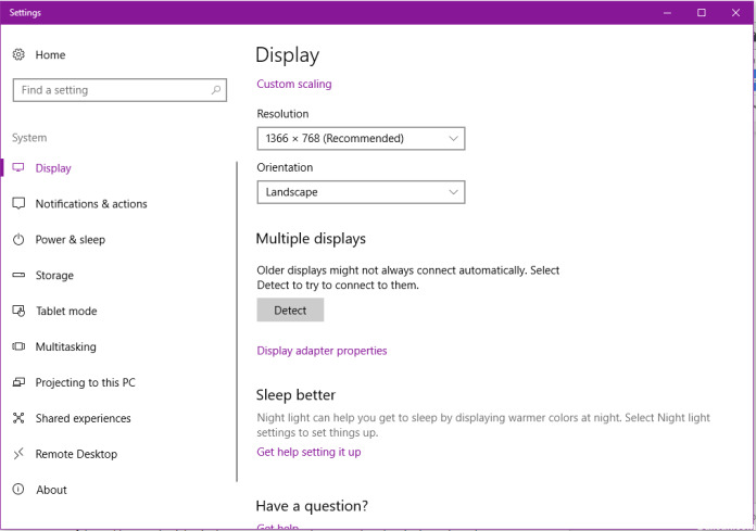 How to Detect Windows 10 on Other screen?