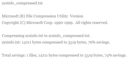 How to Compress File from Command Line