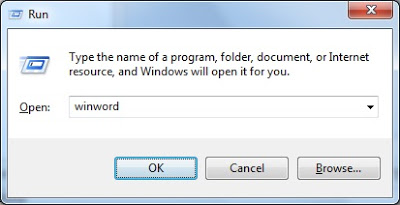 How to Run Command for Word/MS Word