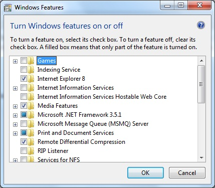 How to Turn On or Off Windows Features by Run Command