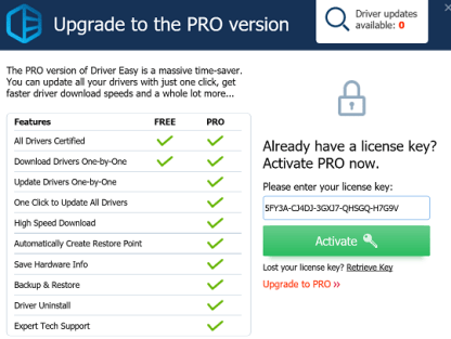 Driver Easy Pro 2019 Serial Key