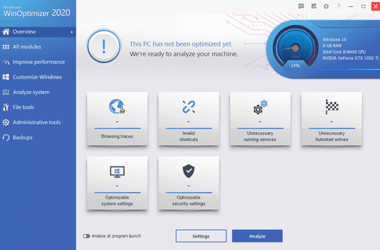 Ashampoo WinOptimizer 2020 License Key Full Version