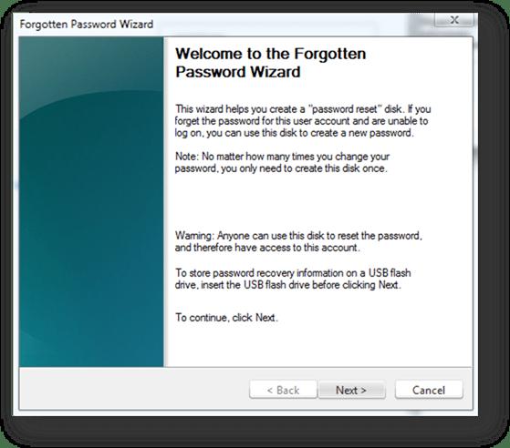How to Create Windows 7 Password Reset Disk