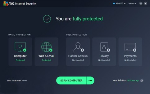 AVG Internet Security 2020 Free License Key 365 Days - 1Year