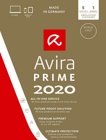 Avira Prime 2020 Free License Key for 3 Months / 92 Days