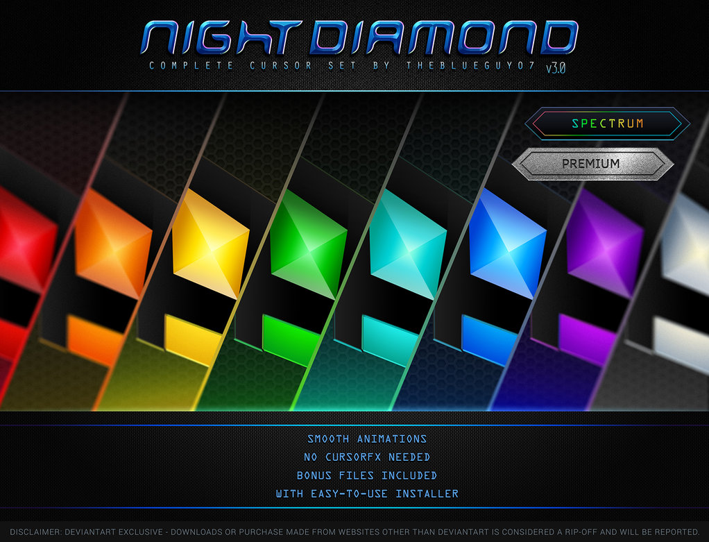 Night Diamond Spectrum Set - Shape your computer beautifully