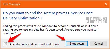 Stop Service Host Delivery Optimization