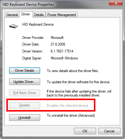 disable keyboard on laptops