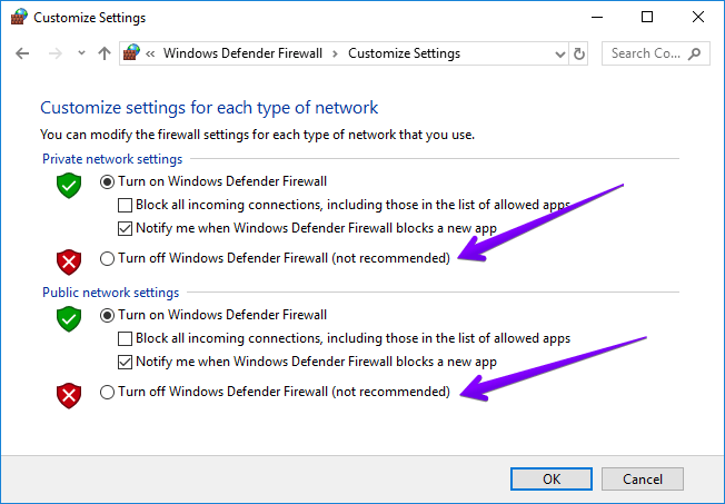 disable firewall google chrome not opening
