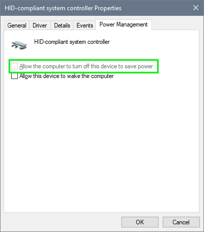 allow the computer to turn off this device to save power windows 10