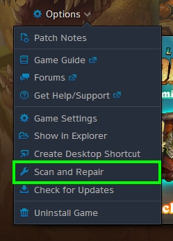 scan and repair battlenet