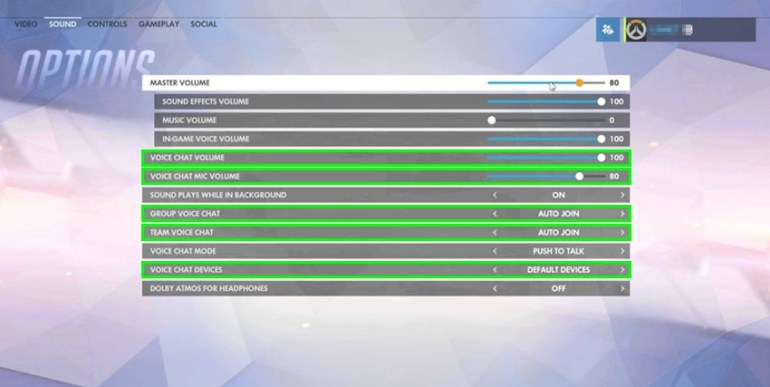 voice chat settings overwatch