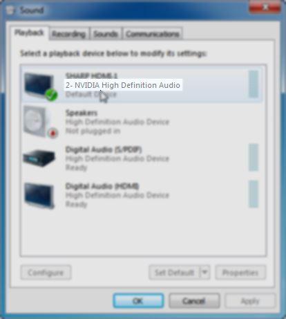 nvidia high definition audio driver
