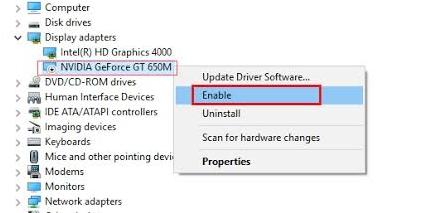 enable nvidia device