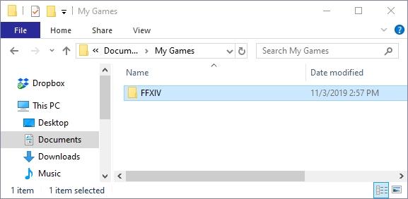 ffxiv folder