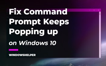 command prompt keeps popping up