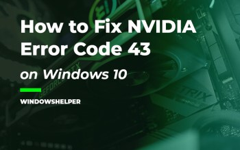 windows has stopped this device because it has reported problems. (code 43) nvidia