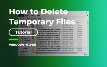 temporary files windows 10