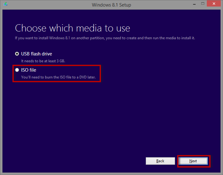 Download a bootable Windows 8.1 Disc. Download a bootable Windows 8.1 Disc.