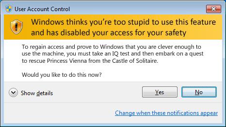 LCARS 47 Windows User Account Control UAC Security