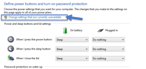 Change settings that are currently unavailable  How to turn on Fast Startup in Windows 8.1 fast startup