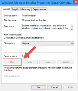 Services Start FIX: Windows Resource Protection could not start the repair service resource protection