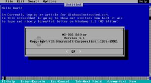 Windows 3.1 MS-Dos Editor History of Windows Versions: Windows 3.1 History of Windows Versions: Windows 3.1