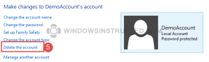 Windows 10: Delete User Account How to Remove an Account in Windows 10 and Windows 8 How to Remove an Account in Windows 10 and Windows 8