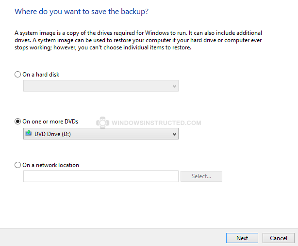 System Image: Where to make it How to Create a System Image in Windows 10 How to Create a System Image in Windows 10