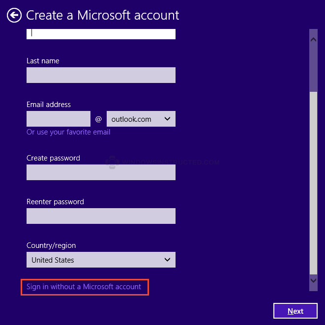 Sign in without a Microsoft Account How-to Create a Local Account during Windows 10 Installation local account