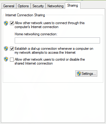 Sharing Settings FIX: The hosted network couldn't be started The hosted network couldn't be started