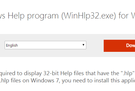 Windows 7 hlp Support