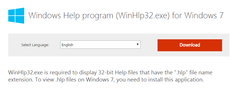 Windows 7 hlp Support How can I enable Legacy Windows Help system open hlp files in windows 8.1