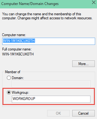 How to Change Workgroup in Windows 10