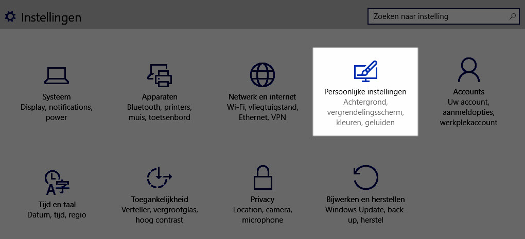 Windows 10: Persoonlijke Instellingen Hoe zet ik Transparant Menu Start aan en uit in Windows 10 transparant menu start
