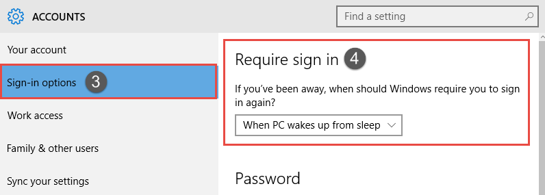 Windows 10: Enable or Disable Password Protection on Wakeup How to Enable or Disable Password Protection on Wakeup in Windows 10 Disable Password Protection on Wakeup