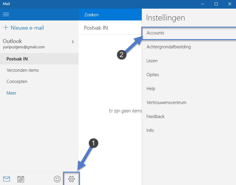 Windows 10: Email Account toevoegen Hoe stel ik Gmail als emailaccount in op Windows 10 mail