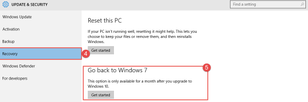 Windows 10: Go Back to your Old Version I upgraded to Windows 10 can I go back to my earlier version of Windows? earlier version of Windows