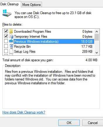 Old WIndows Installation Files How to Remove the Windows.old Folder created by Windows 10? Remove the Windows.old