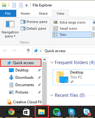 File Explorer -> Quick Access How-to Enable / Disable Recent Files in Windows 10? Recent Files