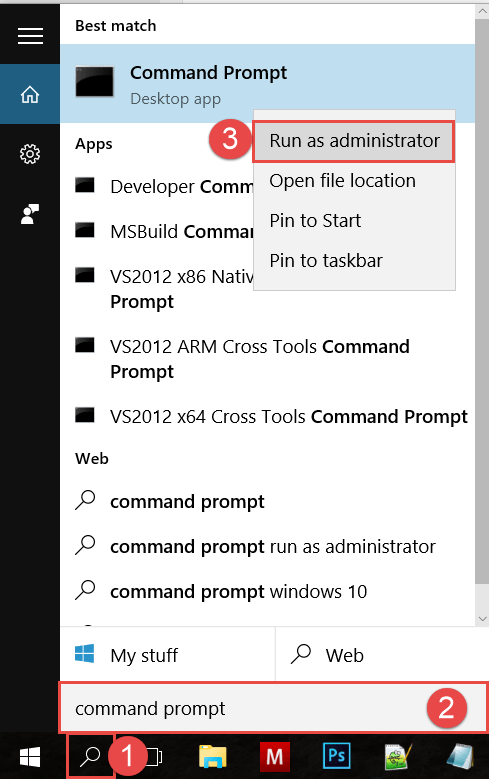 Start Command Prompt using Search How to Start Command Prompt in Windows 10 start command prompt