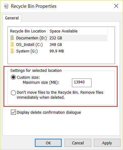 2016-01-21_22-26-35.png How to limit the Recycle Bin Size in Windows 10?