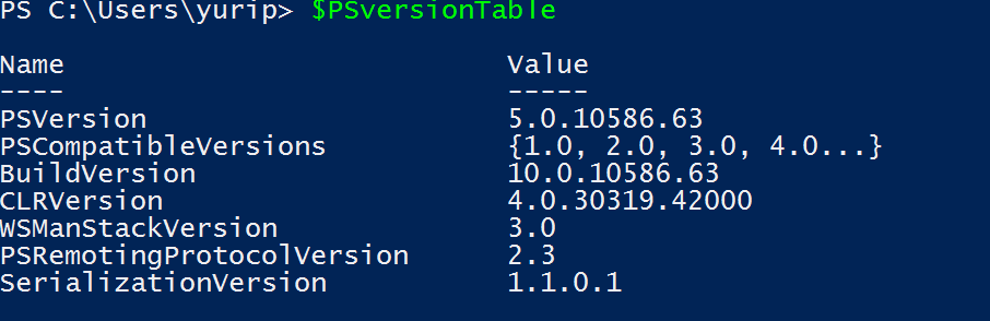 Powershell Version in Windows 10 How to check the PowerShell version in Windows 10 Powershell version in Windows 10
