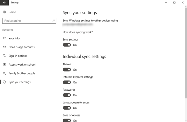 How to Disable Account Syncing in Windows 10 Account Syncing in Windows 10