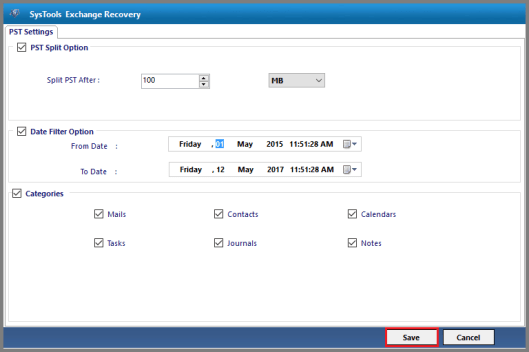 Date Filter Perform Mailbox Recovery in Exchange 2010 Database