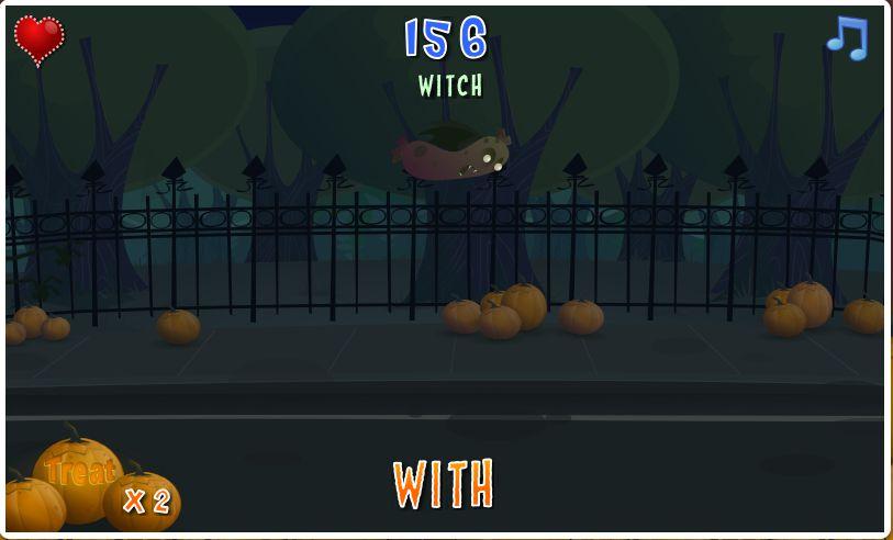Game mengetik cepat bertamakan Hallowen