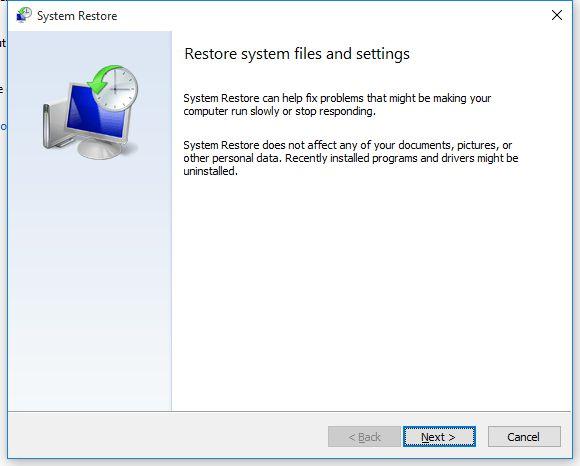 Cara membuka System Restore di Windows 10