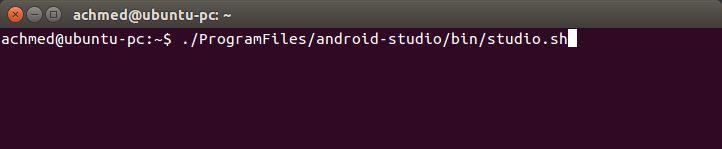 Cara membuka Android Studio di Ubuntu