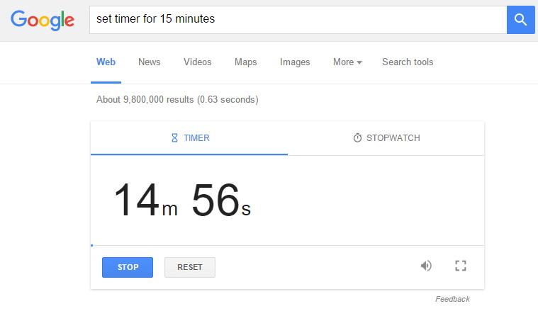 Cara menggunakan stopwatch dan timer di Google