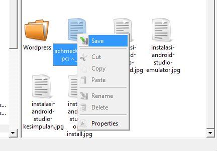 Cara menyimpan file dari Linux ke Windows